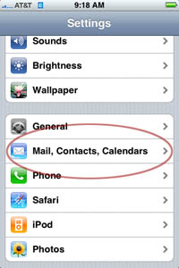 change email address on iphone changing your e mail password on the iphone information 16778